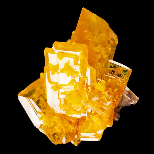 ".8"" Crazy Orange WULFENITE Gem Crystals to 10.3mm w/Mimetite Rowley AZ for sale"