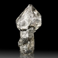 "2.2"" World Class HERKIMER DIAMOND SCEPTER on Black Stem Little Falls NY for sale"