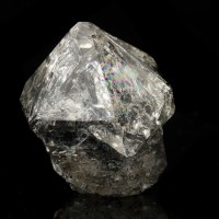 "1.7"" Fat Head SCEPTERED HERKIMER DIAMOND on Black Step Treasure Mtn NY for sale"