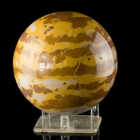 "4"" Diameter White-Brown-Orange Smooth Polished MARBLE SPHERE BALL China for sale"