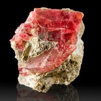"1.2"" Luminous Cherry Red RHODONITE Gemmy Crystal Morro da Mina Brazil for sale"