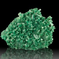 "3.7"" GREEN SELENITE Sharp Gemmy Terminated Crystals on Matrix Poland for sale"