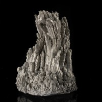 "3.8"" Shiny Metallic ALUMINUM IntricateFeathered Crystals LabGrown China for sale"