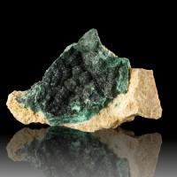 """5.2"""" Lustrous Dark Green ATACAMITE Sparkling Crystals La Farola M Chile for sale"""