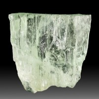 "1"" 42.4ct BrightGreen GEM HIDDENITE Terminated Spodumene Crystal Brazil for sale"