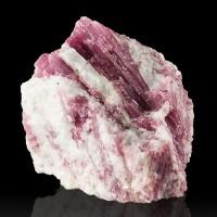 "3.1"" Rich MAGENTA TOURMALINE Lustrous Crystals in Milky Quartz Brazil for sale"