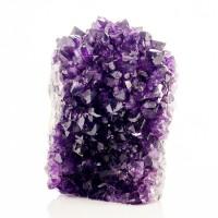 """4.3"""" Hedgehog Cluster of Deep Violet Purple AMETHYST Crystals Uruguay for sale"""