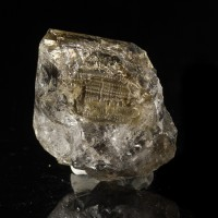 "2.3"" Skeletal Fenster HERKIMER DIAMOND w-Anthraxolite Treasure Mtn NY for sale"