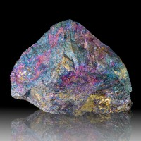 """6.2"""" Colorful Iridescent PEACOCK ORE Turquoise Blue Magenta CHALCOPYRITE Mexico"""
