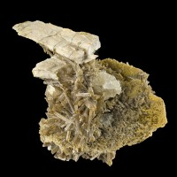 """2.6"""" Gold-Tipped Brown CHILDRENITE-EOSPHORITE Crystals on Matrix Brazil for sale"""