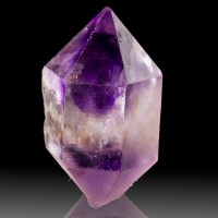 "1.2"" Double Terminated AMETHYST Crystal Hourglass Shape Phantom Morocco for sale"