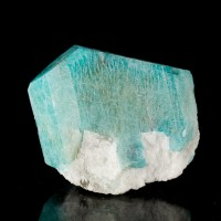 "1.5"" Saturated Turquoise Blue AMAZONITE Crystal Glacier Peak Claim CO for sale"