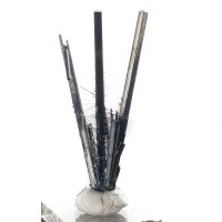 """2.5"""" Shiny Silver STIBNITE Divergent Terminated Crystal Spray China for sale"""
