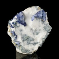 "1.5"" Sharp Shiny Cornflower Blue TriCorner BENITOITE Crystals to 8mm CA for sale"