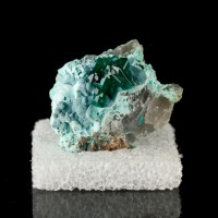 "1.2"" Sparkling Green DIOPTASE CRYSTALS +SHATTUCKITE Aesthetic Namibia for sale"