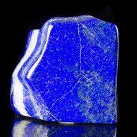 """4.5"""" 2.1LB Polished Gem Grade LAPIS LAZULI Vivid Dark Blue Afghanistan for sale"""
