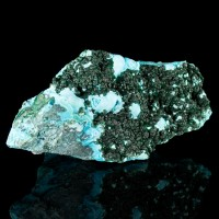 "5.4"" HiContrast GreenOnTurquoise MALACHITE Crystals onCHRYSOCOLLA Congo for sale"