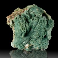 "3.4"" Sharp Flashy Robust Sea Green Curved HEULANDITE Crystals India for sale"