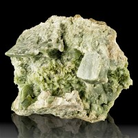 "4"" Green DIOPSIDE Crystals in Vug Buckhorn Rd. Roadcut Ontario 1972 for sale"