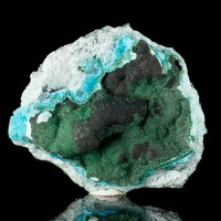 """4.2"""" Sparkling Black HETEROGENITE w/Green Malachite & Chrysocolla Congo for sale"""