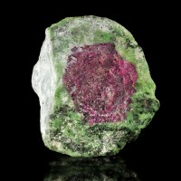 "2.6"" Colorful Red & Green WATERMELON RUBY Crystal with Zoisite Tanzania for sale"