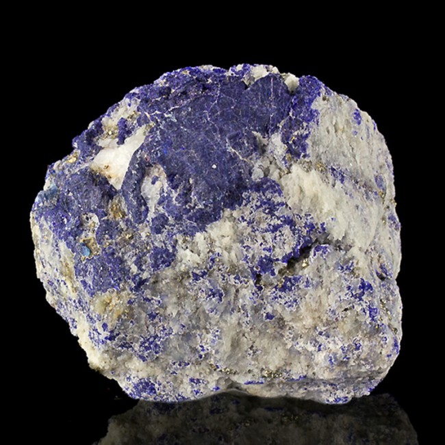 """1.8"""" Ultramarine Blue LAZURITE Crystals in White Marble Afghanistan for sale"""