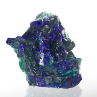 "1.4"" MirrorBlue AZURITE Pseudo Over Malachite Crystals Milpillas Mexico for sale"