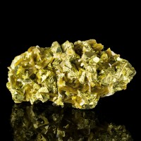"3.8"" Shiny Golden CHALCOPYRITE Crystals w-Wedge-Shaped Siderite China for sale"