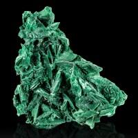 "4.2"" Green Velvet MALACHITE Pseudorphs After Azurite Crystals Milpillas for sale"