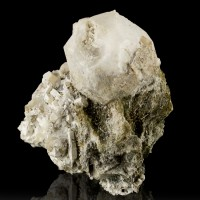"3.3"" White ANALCIME Crystals to 1.6""+Aegerine+Natrolite 1975 MSH Quebec for sale"