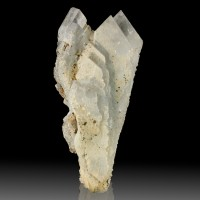 "3.3"" Gemmy Blue BARITE Terminated Spear-Tip Crystals in Cluster Georgia for sale"