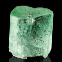 10mm 5.8ct Green EMERALD Sharp Terminated Gem Clear Crystal Chivor Mine Colombia
