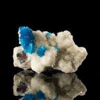 """2.1"""" Screaming Blue CAVANSITE on Stilbite Radiating Crystal Balls India for sale"""
