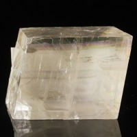 "5.7"" Double Refracting Gemmy ICELAND SPAR Calcite Crystal Rhomb Mexico for sale"