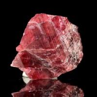 "1.3"" Vibrant Cherry Red RHODONITE Lustrous Crystal Morro da Mina Brazil for sale"
