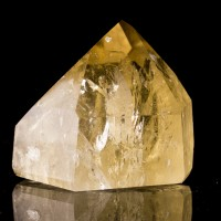 "2.7"" Bright Glowing Yellow CITRINE QUARTZ Polished Gemmy Crystal Brazil for sale"