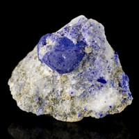 "1.8"" DarkBlue LAZURITE LAPIS LAZULI Crystal in White Marble Afghanistan for sale"