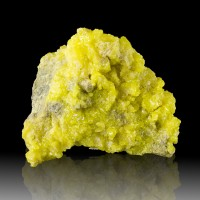 "5"" Sparkling ButterYellow SULFUR Sharp Gemmy Crystals on Matrix Bolivia for sale"