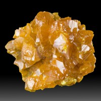 "1.9"" Brilliant Orange ORPIMENT Fine Sharp Crystals to.5"" Twin Creeks NV for sale"