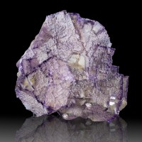 "2.7"" Lustrous Purple-Edged Cubic FLUORITE Step-Face Crystals Elmwood TN for sale"
