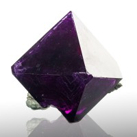 "2.6"" Grape Purple ALUM CRYSTAL on Matrix Pristine Octahedron Lab Grown for sale"