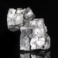 "4.7"" Lustrous Sharp Silvery Gray Metallic GALENA Crystals Missouri for sale"