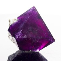 "2.2"" Lab Grown Purple Violet Octahedral ALUM Crystal on Matrix Poland for sale"