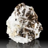 "3.1"" DarkChocolate Brown FLUORITE Crystals +CELESTITE White Rock Q Ohio for sale"
