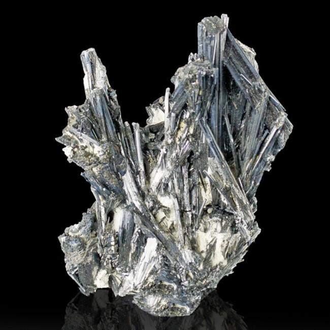 """4"""" STIBNITE Terminated Brilliant Metallic Mirror Bright Crystals China for sale"""