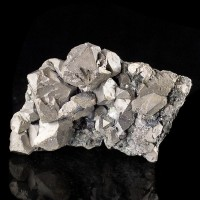 "3.5"" Sharp Metallic Silver Octahedral GALENA Crystals Dalnegorsk Russia for sale"