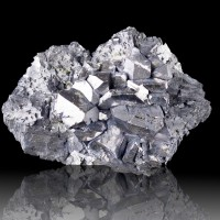 "3.7"" FLATTENED GALENA MirrorBright Cube-Octahedral Crystals Dal'negorsk for sale"