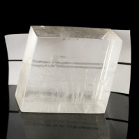 "3.5"" Utterly Clear ICELAND SPAR Polished Crystal Rhomb +Rainbows Brazil for sale"