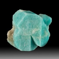 "1.4"" HighlySaturated TurquoiseBlue AMAZONITE Crystal Smoky Hawk ClaimCO for sale"