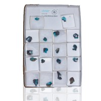 Wholesale Flat 18 pieces Neon TurquoiseBlue DRUZY CHRYSOCOLLA Chile @$4 for sale